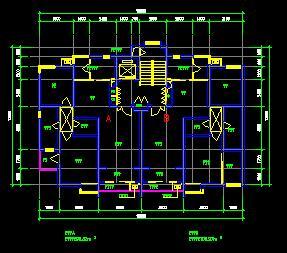 90平米一梯两户住宅户型平面图