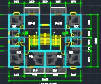 五层别墅户型平面图