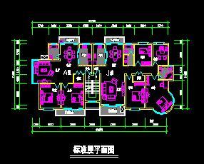 一梯两户多层住宅户型设计图(带复式)