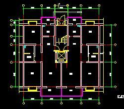 24个一梯二户住宅户型平面图(带电梯)