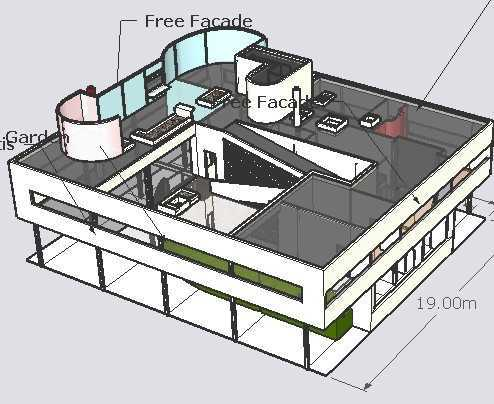萨伏伊别墅sketchup模型
