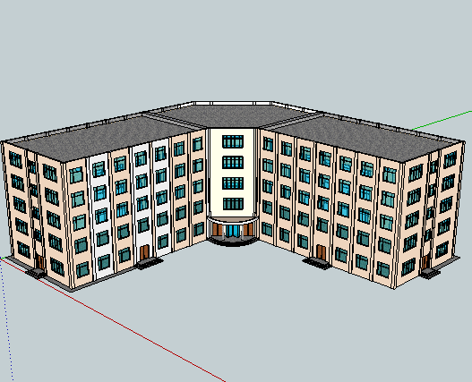 某旅馆sketchup模型