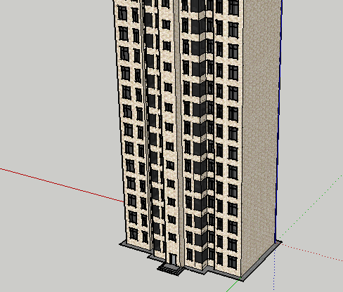 高层住宅一梯两户SketchUp模型