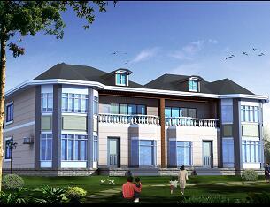 两层双拼别墅设计3DMAX模型
