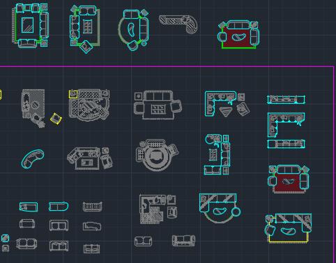 装饰装修CAD图块