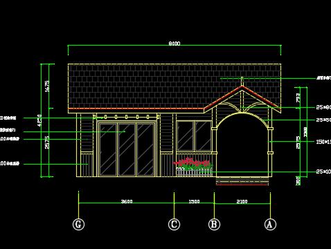 龙门机械防腐木施工制作图纸免费下载-住宅楼cnc木屋装配图刀库图cad图纸图片
