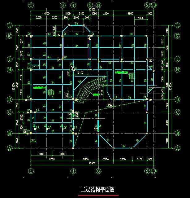 钢结构别墅结构施工图