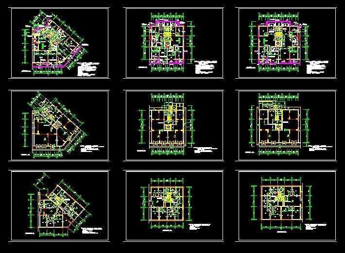 多层住宅平立面图免费下载 建筑详图 图库