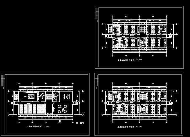 餐厅宿舍平面图