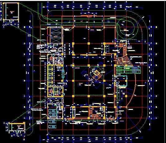 酒店建筑设计图免费下载 - 建筑户型平面图 - 土木