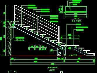 cad立体楼梯图库