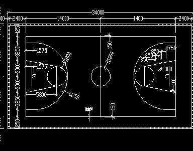 篮球场设计图免费下载 - 建筑规划图 - 土木工程网