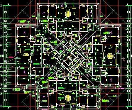 小区住宅户型平面图