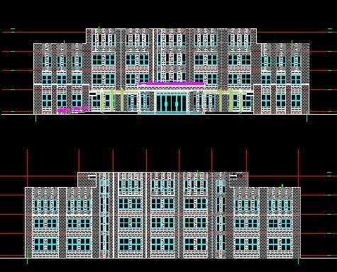某乡政府办公楼施工图免费下载 - 建筑户型平面图