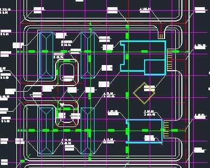 某高校学生生活区场地设计规划图免费下载 - 建筑详图