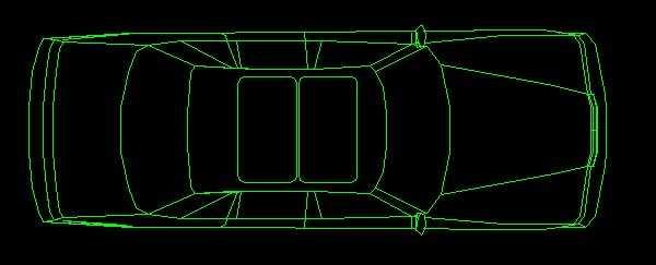 cad汽车平面设计图