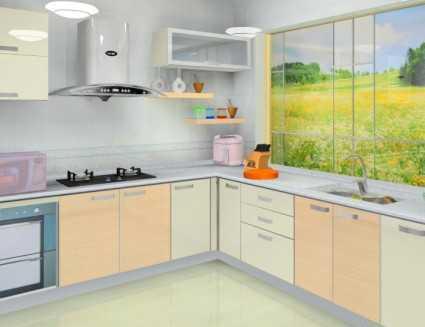 厨房橱柜设计图纸效果图片