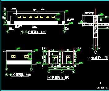 某室外厕所建筑设计图