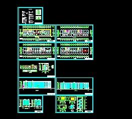 某四层办公楼框架建筑设计图免费下载-美术v框架与平面设计的区别图片