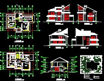 16套别墅设计图