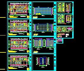 某办公楼施工图(含香港六合开奖直播结构水电暖)
