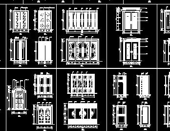 各类装饰门CAD图库