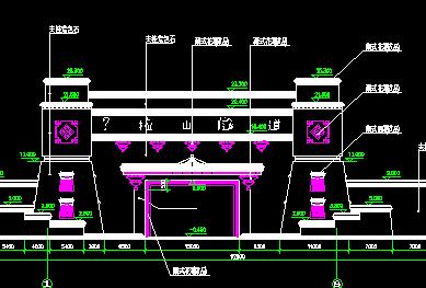 藏式大门设计详图