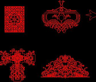 西式雕刻花样CAD图库