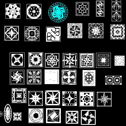 CAD常用花纹图块