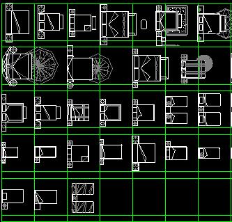 CAD常用家居平面图块