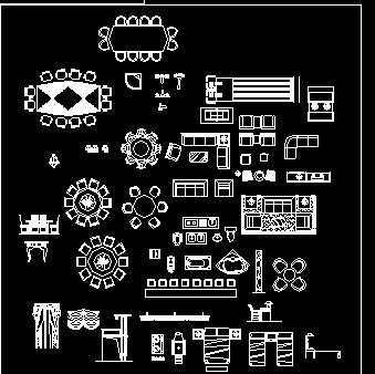 CAD精品家具图库