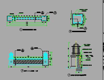景墙设计施工详图
