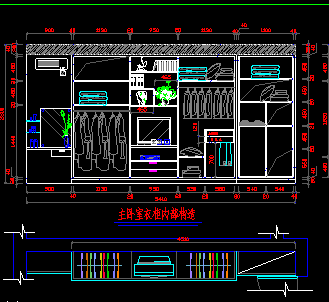 7款衣柜CAD图纸