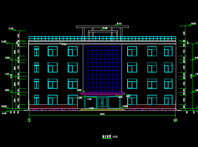 某四层办公楼建筑设计图免费下载-素材、景观设计工业人行道图片