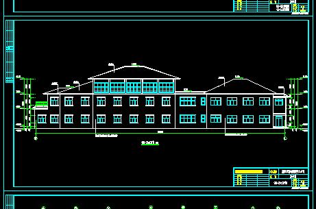 某3层办公楼建筑设计图纸(含水电)