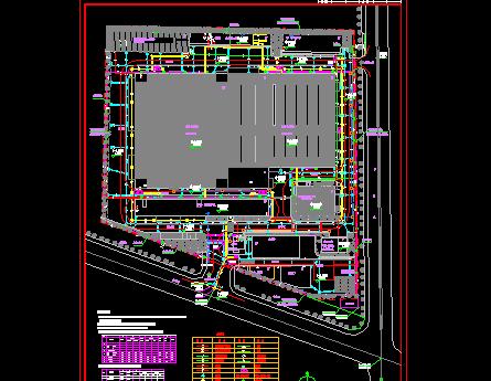 某生产厂房综合管线总平面图纸