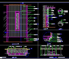 酒店大堂石材柱设计详图