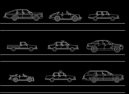 CAD汽车图块