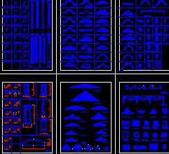 古典装饰线脚图集