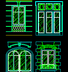 西式窗设计图库