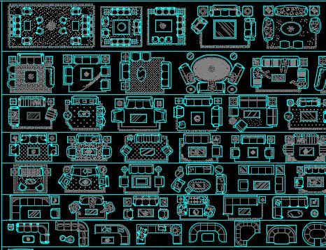 CAD室内设计装饰图库