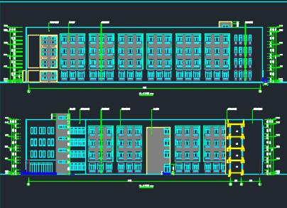 5层教学楼建筑施工图纸