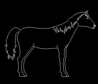 CAD动物平立面图块