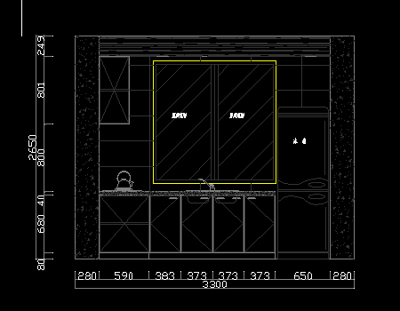 各式厨房立面CAD图块