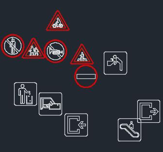 交通标志CAD图库