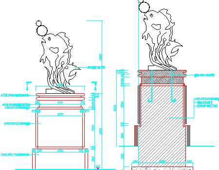 小区雕塑设计施工详图