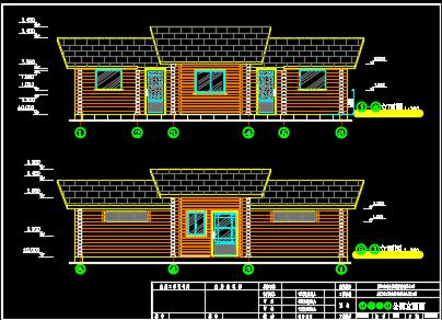 简单的木结构生态厕所施工图纸