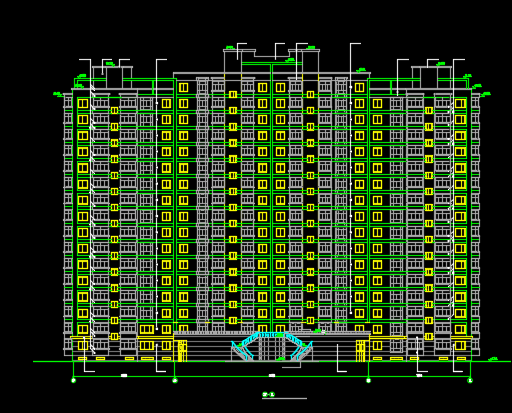 某小区十七层住宅楼建筑设计图纸