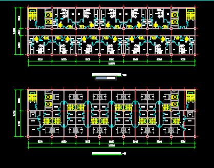 跃层式住宅楼户型平面图