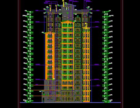 18层欧式风格住宅楼建筑施工图纸